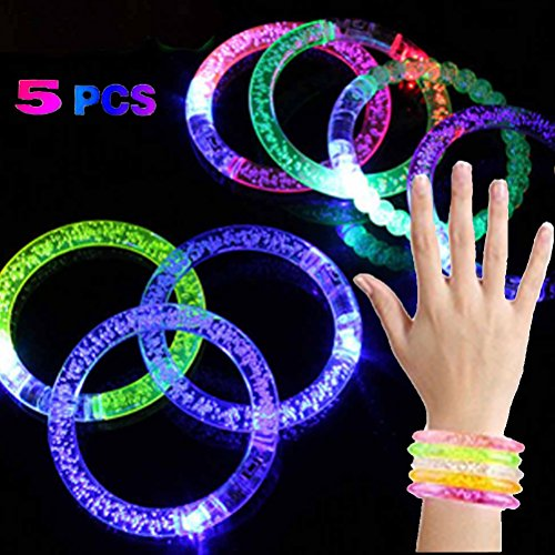four-plus-one-5-pcs-random-delivery-colour-change-led-light-up-flash-bracelet