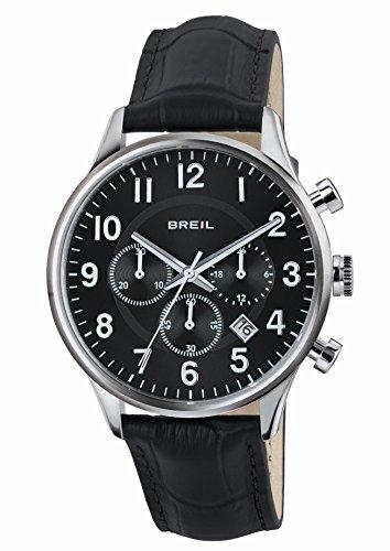 Breil orologio cronografo quarzo uomo con cinturino in pelle tw1577
