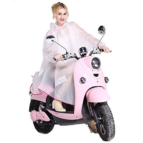 Regenmantel Damen Regen Poncho mit Kapuze Regenjacken wasserdicht modische Regenkleidung für Motorrad- Fahrrad (Pink)