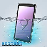 Banath für Samsung Galaxy S9 Hülle,Wasserdicht IP68 Zertifiziert Handy Hülle mit Eingebautem Bildschirmschutz, Stoßfest Staubdicht & Unterwasser Outdoor Schutzhülle (Weiß)