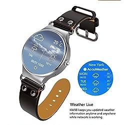 kingwear kw98Smart watches 3,3pulgadas AMOLED, pantalla HD, Android 5.1, iOS, podómetro, Ritmo cardíaco Live, WiFi, GPS, Weather Live, grabadora de sonido, anti-lost y mando a distancia cámara.