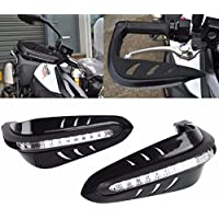 League & Co Protège mano plástico integrado 12 V luces intermitentes LED para mango de moto Universal 22 mm 7/8 pulgadas manillar