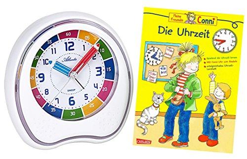 Kinderwecker Ohne Ticken Jungen Mädchen mit Lernbuch Conni Buch Uhrzeit Lernen - 1953-0 BU