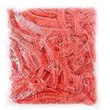 Mioloe Impermeabile 100pcs monouso Trasparente Doccia Cuffia per Capelli cap termale Salon Bath Hotel Elastico Hat