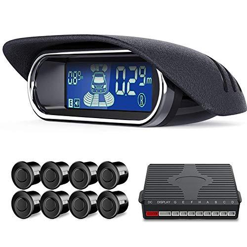 Foonee sistema radar di backup, kit di sensori di parcheggio wireless, monitor per auto, 8 sensori di parcheggio per auto universale, anti-collisione, alta sensibilità, dual core, voce, lcd (22 pezzi)