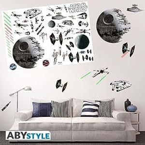 star wars wandtattoo wandaufkleber wandsticker battleships k che haushalt. Black Bedroom Furniture Sets. Home Design Ideas