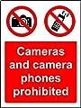 Verbotszeichen Kameras und Kamera-Handys sind verboten Hinweisschild–Sticker Selbstklebend 200mm x 150mm