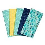 Taschentücher aus Stoff, waschbare, wiederverwendbare Öko Stoff-Taschentücher aus Baumwolle, 5 Taschentücher - Made in Germany (Minttraum)