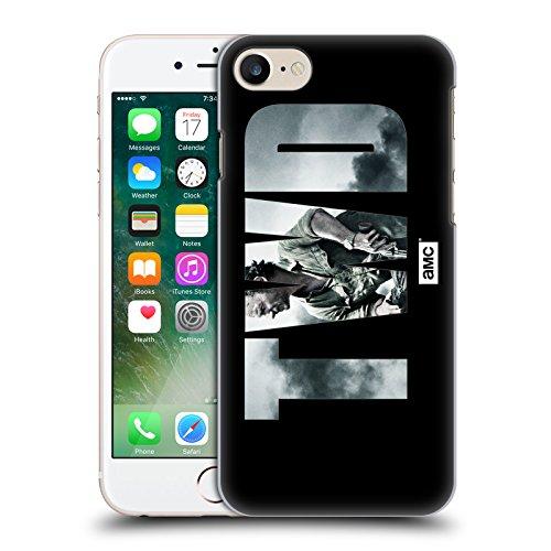 Offizielle AMC The Walking Dead Schwarzes Blut Logo Ruckseite Hülle für Apple iPhone 5 / 5s / SE Landschaft