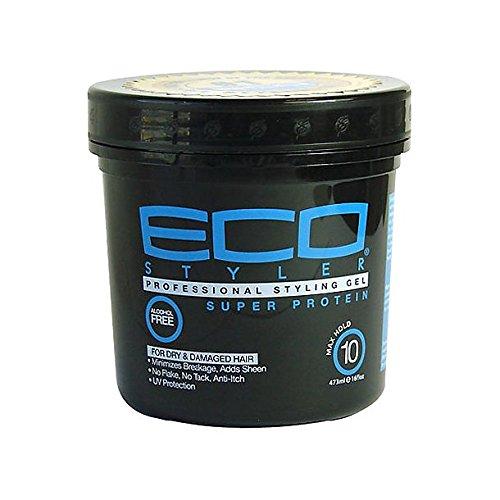 Super Hold Styling Gel (Eco Styler Super Protein Styling Gel 16oz/473ml)