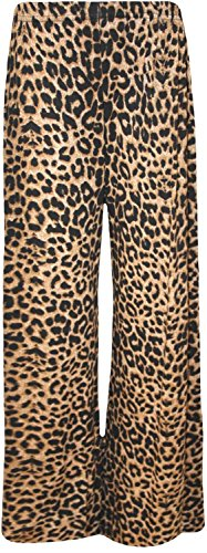 Frauen Plus Size Leopard Print Maxi Swing-Kleid Leggings Palazzos 56-58 Palazzos - Wide Sleeve Print Kleid
