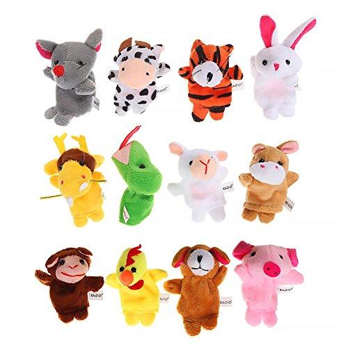 Alley. L Ensemble de marionnettes Game12pcs Apprentissage éducatif Jouets d'enfants Peluche étage Jeu de rôle pour bébés Props Jouets éducatifs bébé Tout-Petits