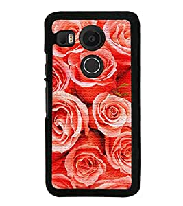 HiFi High Glossy Designer Phone Back Case Cover LG Nexus 5X :: LG Google Nexus 5X New ( Rose Pattern )