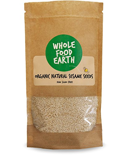 Wholefood Earth: Organic Natural Sesame Seeds 500g | Raw | GMO Free Test