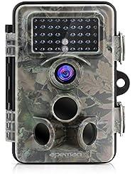 APEMAN Caméra de Chasse 12MP 1080P Avec Grand Angle 130° Lens, PIR de Détection Angle 120°, 42PC 940nm IR LEDs Vision Nocturne jusqu'à 65 pieds/20m IP66 Spray Water Protected Design