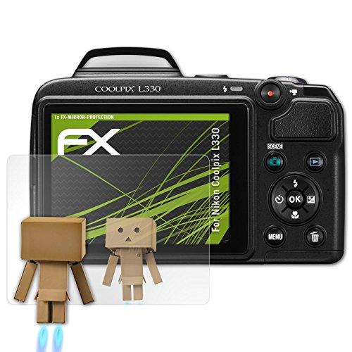 kompatibel mit Nikon Coolpix L330 Spiegelfolie, Spiegeleffekt FX Schutzfolie ()