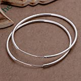 iSweven Hoop Silver Plated Big Latest Fa...