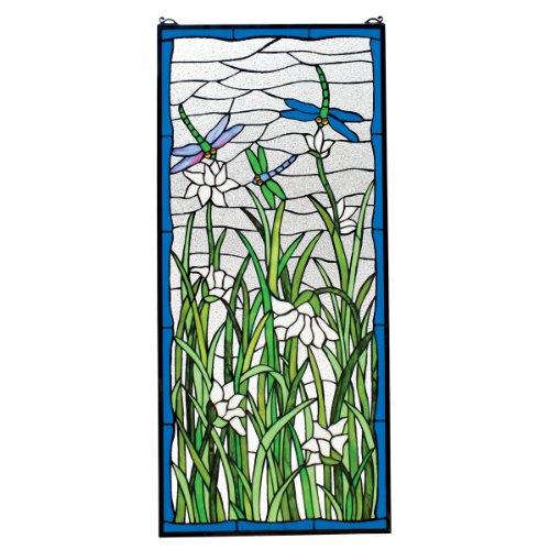 Tiffany Glasmalerei-panels (Buntglas-Panel - Libellen-Tanz Libellen-Buntglas-Fenster Behang - Fensterbehandlungen)