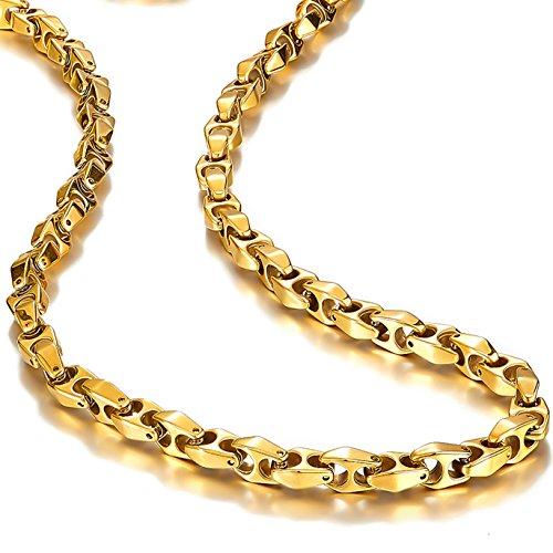 Einzigartige Astro Schlange 56cm Herren Wolfram Golden straffen Link Halskette Kette (schwere, solide)