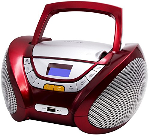 CD-Player | Tragbares Stereo Radio | Kinder Radio | Stereo Radio | Stereoanlage | USB | CD / MP3 Player | Radio | Kopfhöreranschluss | AUX IN | LCD-Display | Batterie sowie Strombetrieb | (Rot) Stereo-cd-mp3