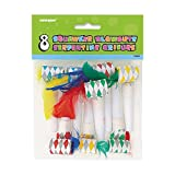 Squawker Party Blowers With Feathers, 8c...