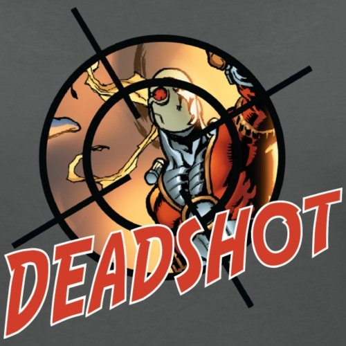 Suicide Squad Escadron Suicide Deadshot T-shirt col V Femme de Spreadshirt® Charbon