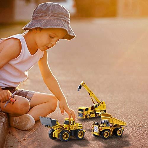 RC Auto kaufen Baufahrzeug Bild 5: Kinder RC Baufahrzeuge Modellbau Spielzeugauto - Fernbedienung Bagger Muldenkipper & Bulldozer Spielzeug für Kleinkinder, Kinder - Bau Spielzeug Traktor von Libertey*