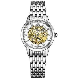 STARKING Women's AL0188SS11 Luxury Skeleton Automatic Mechanical Watch