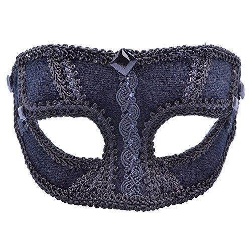 7Samt Stecker Eye Maske Brille Rahmen, schwarz, one size ()