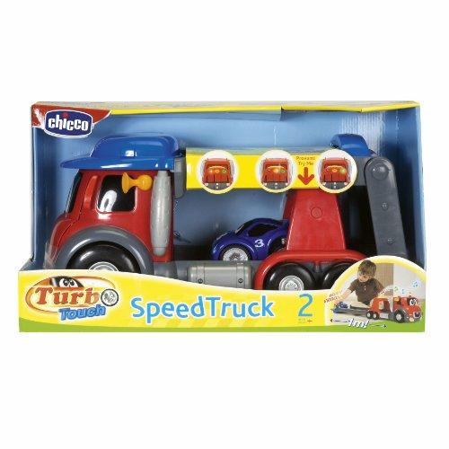 Chicco 00390 Turbo Touch Speed Truck, Camion Trasformabile con Veicolo Incluso
