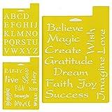 Delta Creative stencil stencil, 7da 25,4cm, 97sm-2190font e frasi (confezione da)