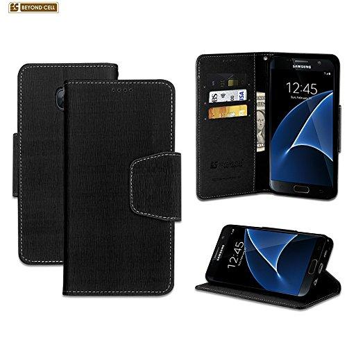 Galaxy S7Case, S7, Außerhalb Zelle® infolio Premium 2Ebene Schutz Luxus PU Leder Folio Flip Schutzhülle mit Built in Media Ständer & Card Slots, Schwarz - Cash Register Taste