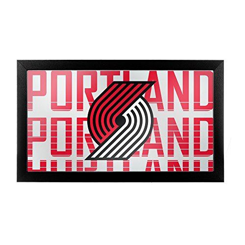 Trademark Global Markenzeichen Gameroom nba1500-ptb3 NBA gerahmt Logo Spiegel - City - Portland Trailblazers