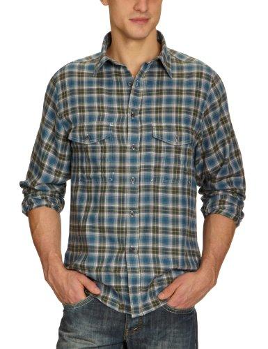 Craghoppers Mitsue Chemise à manches longues pour homme Noir - Vert/gris à carreaux