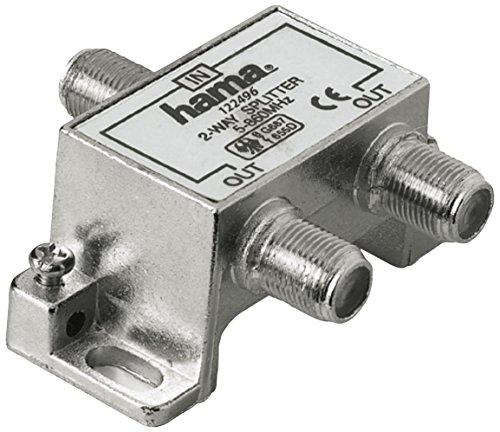 Hama 75122496D Terrestrische Antenne 2Wege Splitter schwarz