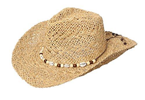 Miuno Herren Cowboy Hut Strohhut H51004