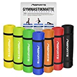 Gymnastikmatte Yoga | inkl. Übungsposter | 190 x 60 x 1,5 cm | Hautfreundlich - Phthalatfrei - in Verschiedenen Farben | sehr weich - extra dick | Fitnessmatte (Orange)