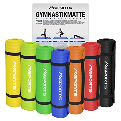 Gymnastikmatte Yoga | inkl. Übungsposter | 190 x 60 x 1,5 cm | Hautfreundlich - Phthalatfrei - in verschiedenen Farben | sehr weich - extra dick | Fitnessmatte (Königsblau)