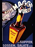 Wee Blue Coo LTD Advertising Food Seasoning Maggi Germany Bottle Steam Art Canvas Print