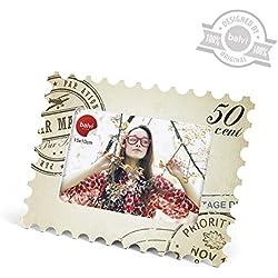 Balvi 25521 - Marco para fotos, 10 x 15 cm, con forma de sello postal, material acrílico