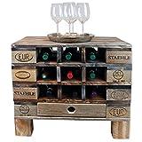 Palettenmöbel Flaschen-/Wein-Regal Kommode Monterey aus ippc zertifizierten Palettenholz, jedes Teil ist einzigartig und Wird in Deutschland in Handarbeit Gefertigt