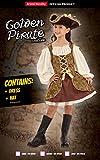 Bristol Novelty CC413 Goldenes Pirat Kleid, Mädchen, Mehrfarbig