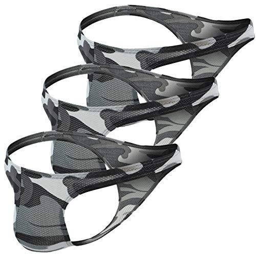 Jugendhj Herren Sexy Unterwäsche Transparent Durchsichtig Shorts Hot Lip Print Unterhose