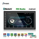 Podofo Android 6.0 Autoradio 2 DIN Universal Multimedia Player 17,8 cm (7 Zoll) HD 2.5D Bildschirm 1 G + 16 G mit Bluetooth WiFi GPS FM AM Radio Empfänger Unterstützung Rückkamera