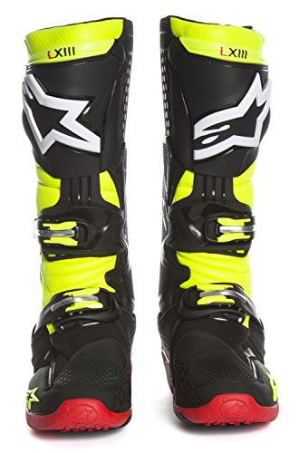 Stivali Mx Alpinestars 2014 Tech Ten Bianco-Rosso-Blu (Eu 42 / Us 8 , Bianco) NERO-GIALLO FLUO-ROSSO