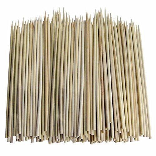 2 x Lot de 100 brochettes en Bambou Taille 250 mm 25,4 cm