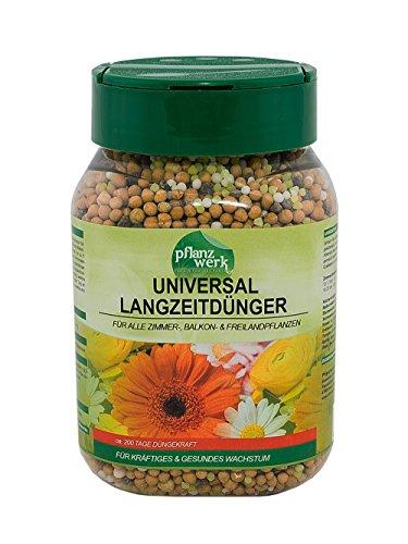 PFLANZWERK® Macetero Universal Fertilizante de liberación lenta Tierra Premium Abono para plantas 500g *6 EFECTO A LARGO PLAZO POR MESES* *MINERAL* *PRODUCTO DE CALIDAD*