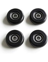 Kit roulement roue pour rails de manutention Roll Siège et, (Lot de 4) Convient pour tous les Bateaux de Gouvernail, roulements en acier inoxydable Ø env. 34,3mm Blanc ou Noir, sans coutures moyennes, diamètre intérieur 6mm, salzwasserresistent