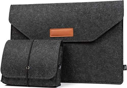 12 Zoll Laptoptasche (Premium Version) mit extra Tasche aus Filz, Perfektes Sleeve für 12