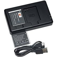 DSTE 2PCS Canon NB-6L(1700mAh/3.7V) Batería Cargador Kit para Canon PowerShot X500,SD3500,SD4000,IS SX275,SX510,SX600,SX610,SX710,HS D10,D20, ELPH 500 HS